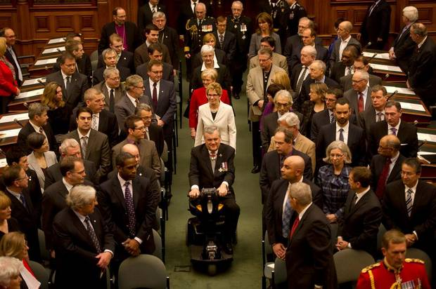 David Onley leads the procession before reading the Speech from the Throne.