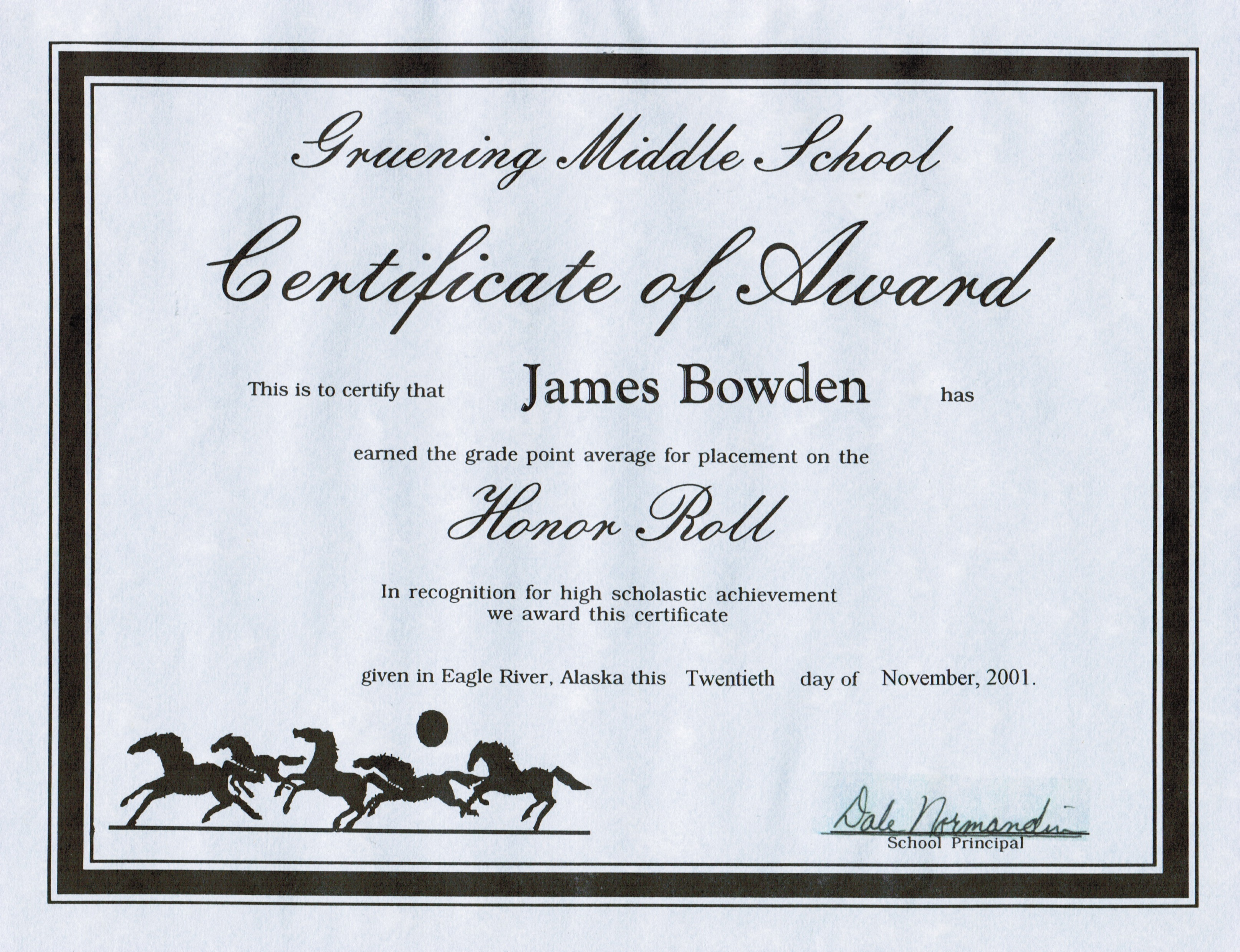 4 Awards And Certificates 2001 Present James Bowdens Blog