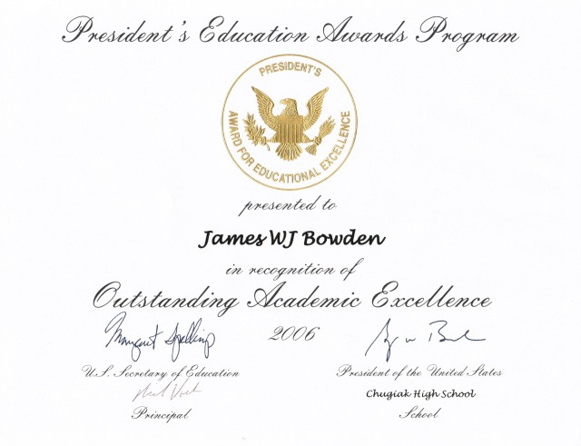 2006, President's Education Awards Program