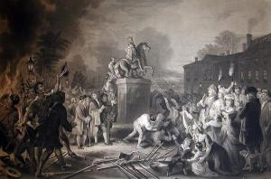 Tearing down the statue of George III destroyed monarchy as a form of government everywhere, the world over.