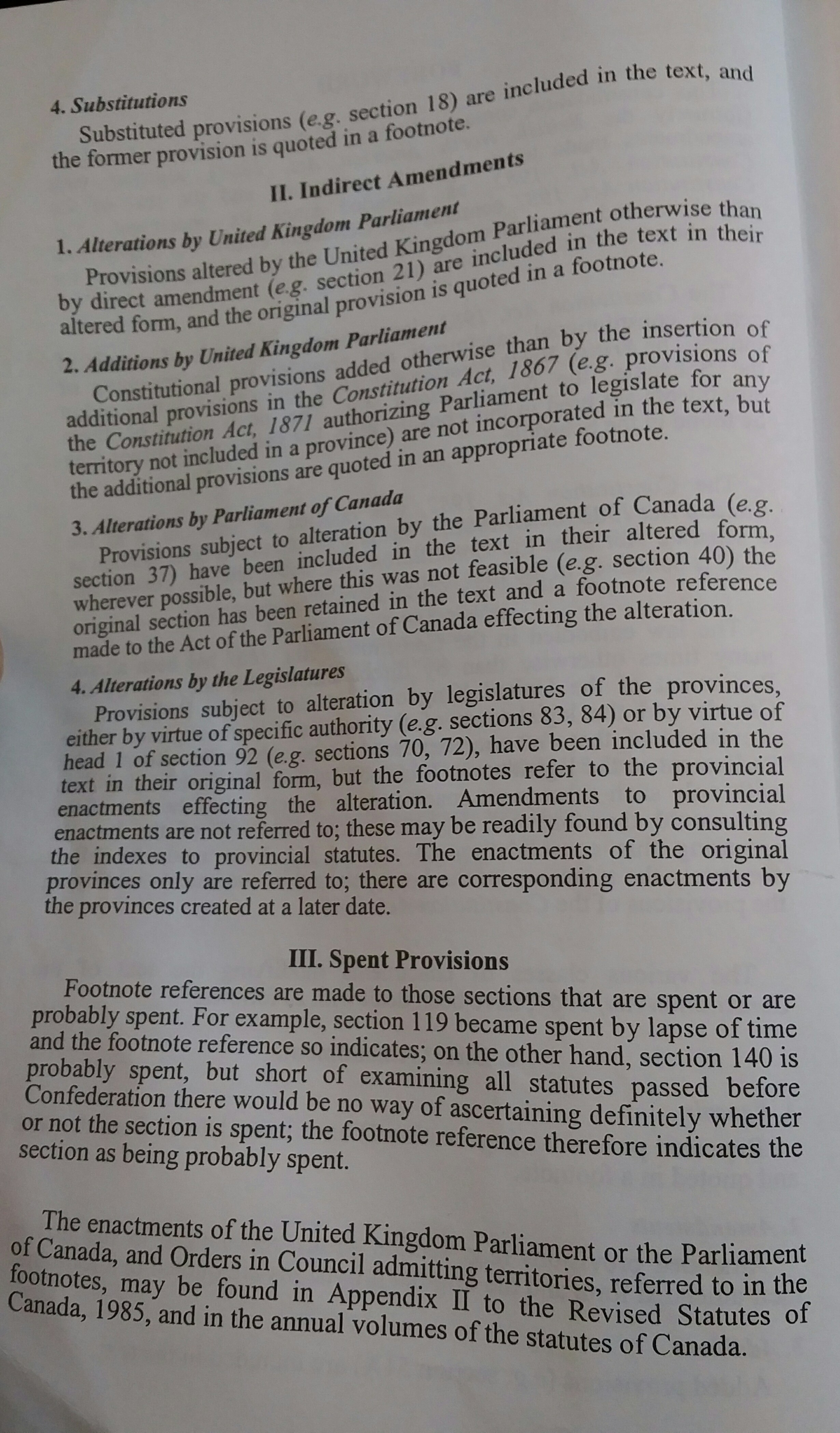 Amending consolidating and codifying statutes of canada